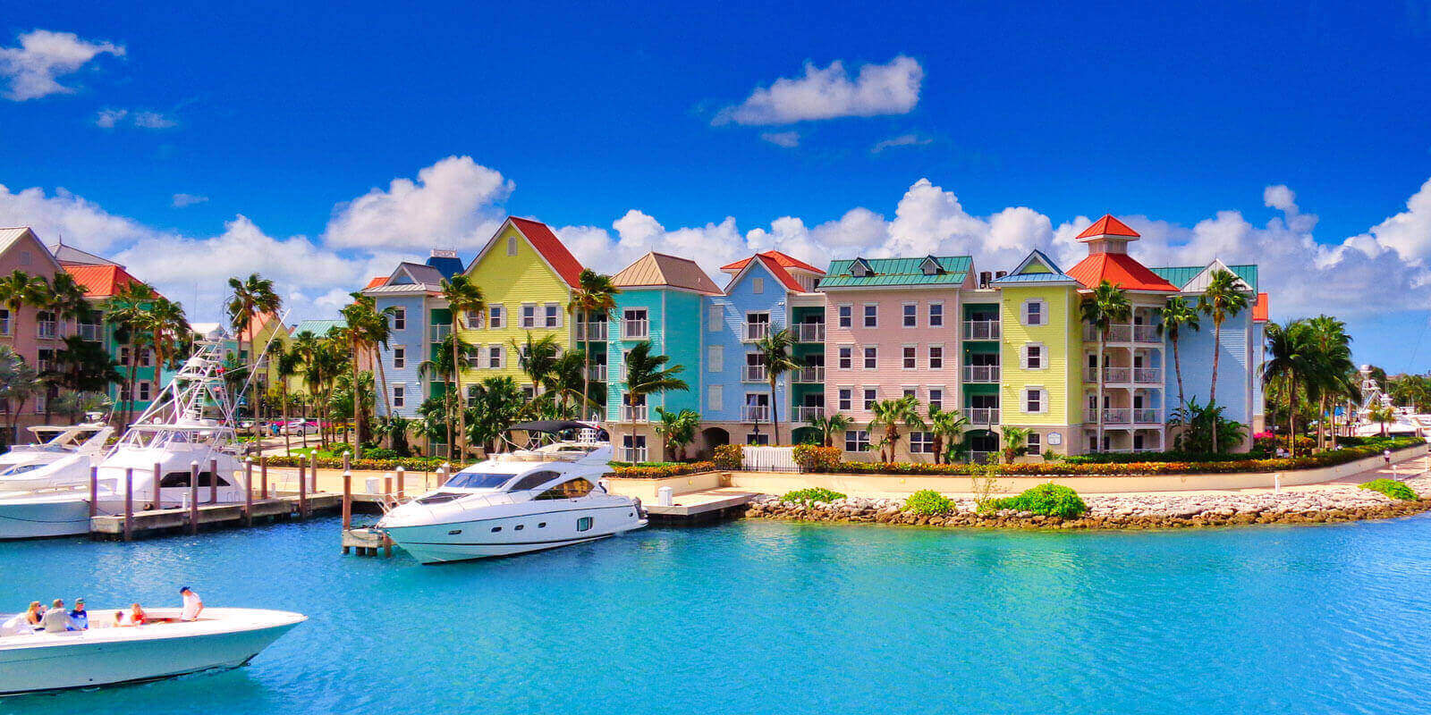 Colorful Houses in Bahamas